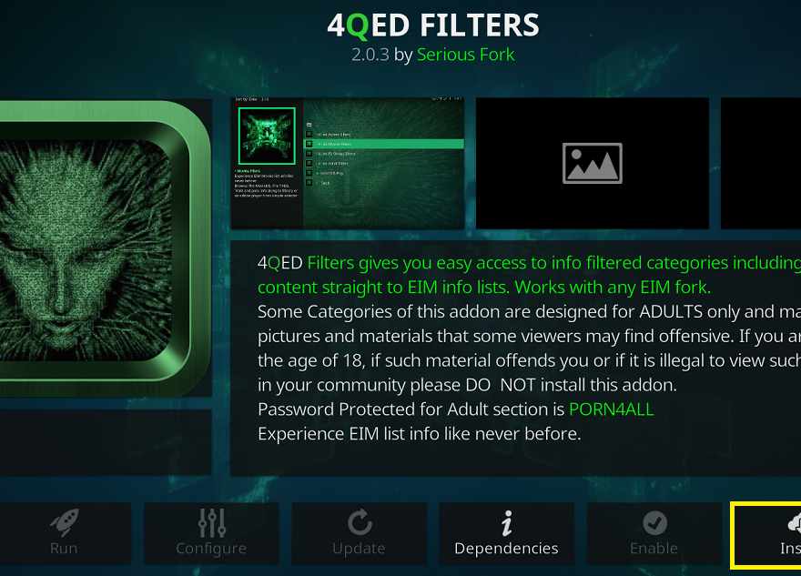 4QED Filters addon