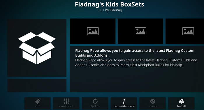 Fladnag's Kids BoxSets addon