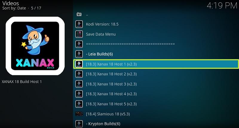 Xanax 18 Host 1