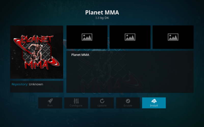 UFC Kodi addons