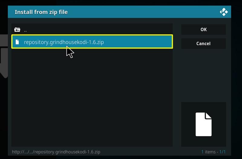 grindhouse kodi zip file