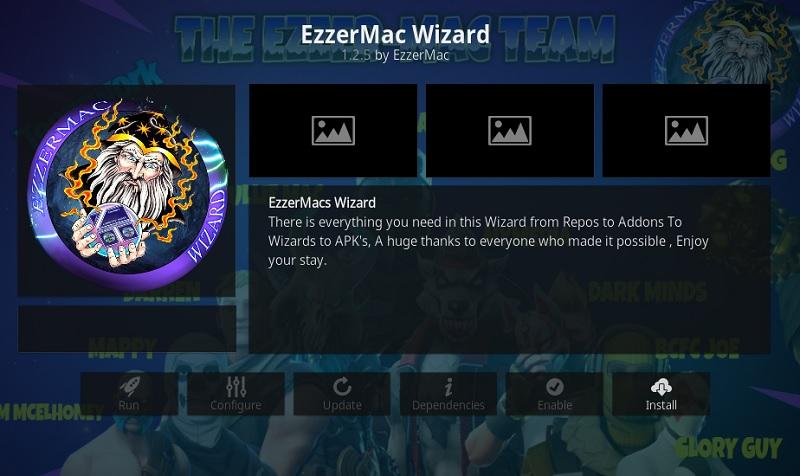 install EzzerMac Wizard.