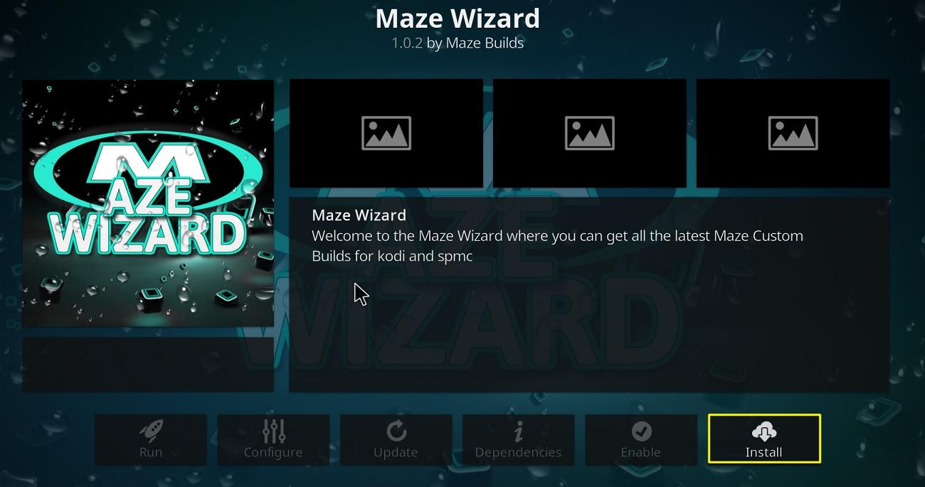 install Maze Wizard