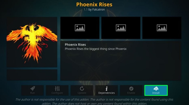 phiwnix rises live tv kodi addon