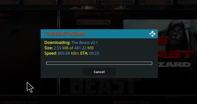 the beast kodi
