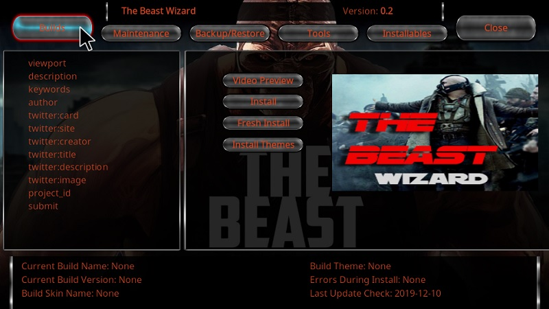 beast build on kodi