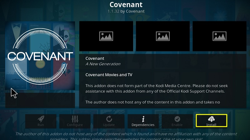 install Covenant add-on