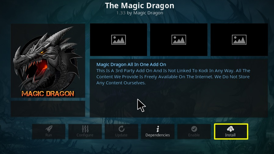 How to Install The Magic Dragon Addon on Kodi