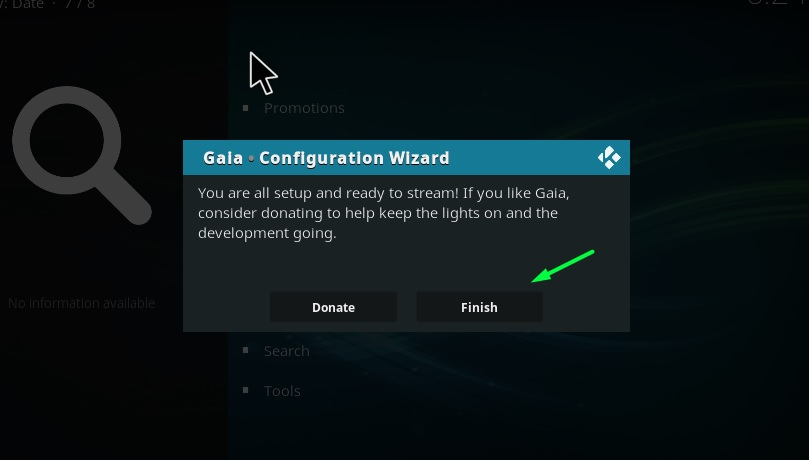 gaia add-on on kodi