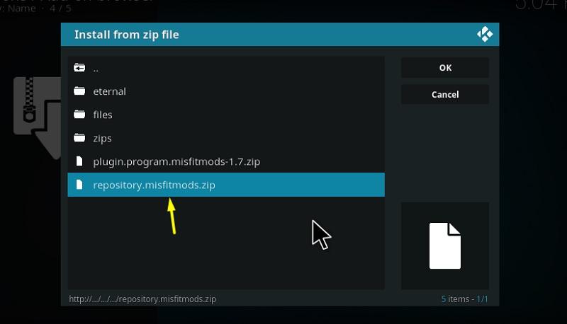 misfit mod kodi build