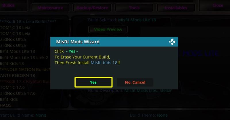 misfit mods lite kodi build