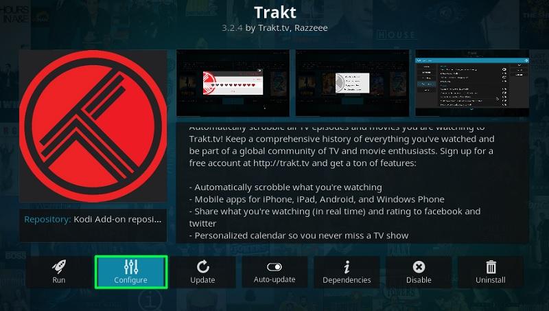 link Trakt with Official Trakt Kodi Addon