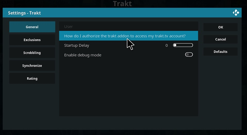 How do I authorize the trakt addon to access my trakt.tv account